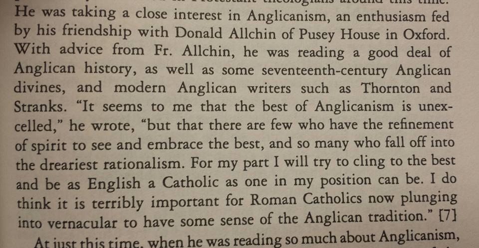 Merton on Anglicanism M. Furlong ht M dallman