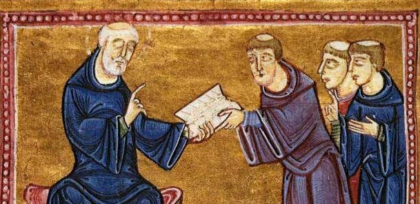 St. Benedict confers the Rule