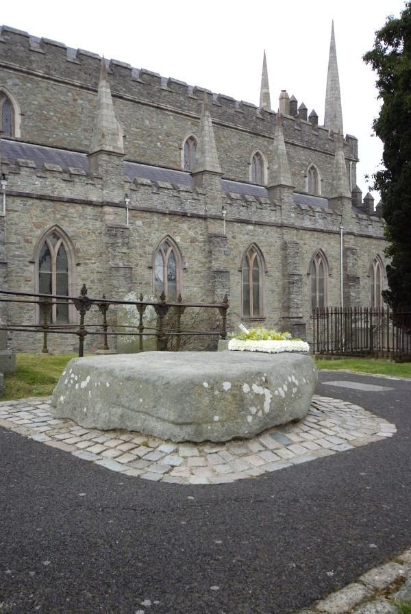 Down Cathedral - granite stone, St. Patrick commem